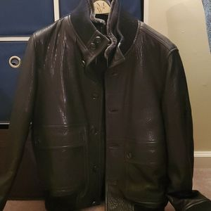Hugo Boss Black Lamb Leather Jacket
